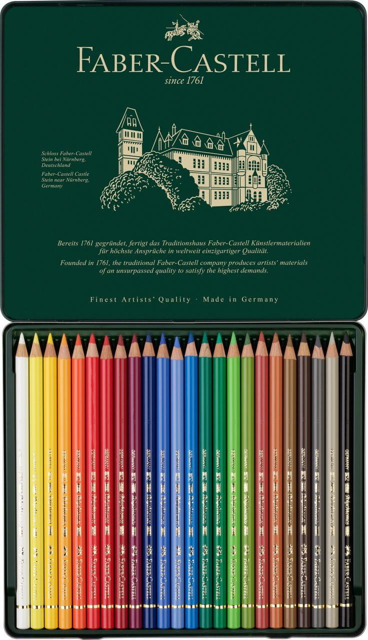 Faber Castell Color Pencil New Polychromos Artist Quality Tin Box of 24