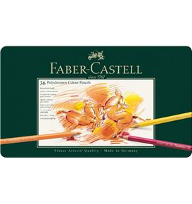 Faber-Castell - Colour Pencil Polychromos tin of 36