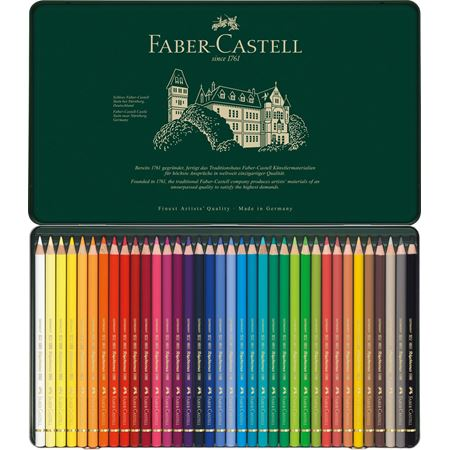 Faber-Castell Polychromos Colored Pencils 12 Count in Metal Tin *Sealed*