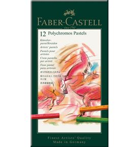 Faber-Castell - Polychromos pastel, cardboard wallet of 12