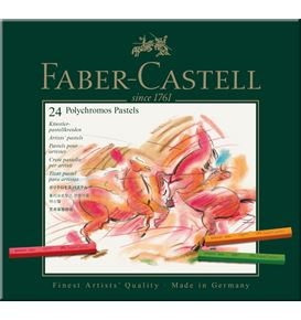 Faber-Castell - Pastel crayon Polychromos box of 24
