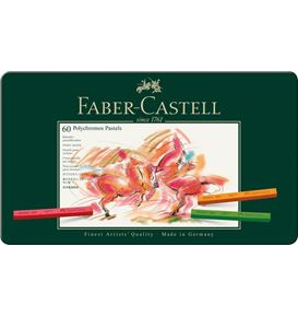 Faber-Castell - Pastel crayon Polychromos tin of 60