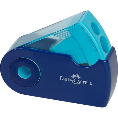 Faber-Castell - Sleeve twin sharpening box, 3 trend colours, sorted