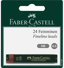 Faber-Castell - Super-Polymer fineline lead, HB, 0.5 mm, set of 2