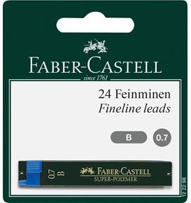 Faber-Castell - Super-Polymer fineline lead, B, 0.7 mm, set of 2