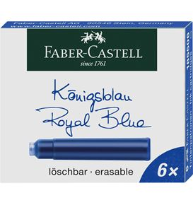 Faber-Castell - Ink cartridge standard blue, box of 6