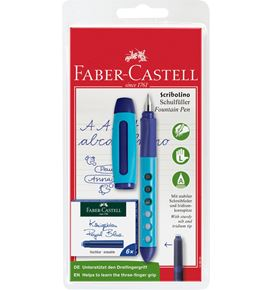 Faber-Castell - Scribolino school fountain pen set, left-hander, 7 pieces