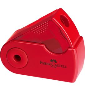 Faber-Castell - Sleeve Mini sharpening box, red/blue, sorted