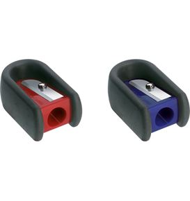 Faber-Castell - Single hole sharpener with rubber red/blue