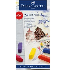 Faber-Castell - Soft pastels mini, cardboard wallet of 24