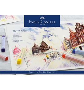 Faber-Castell - Soft pastels cardboard box of 36