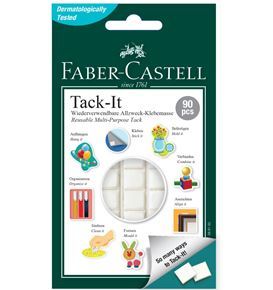 Faber-Castell - Tack-it adhesive, 50 g, white