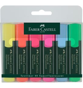 Faber-Castell - Textliner 48 Superfluorescent, wallet of 6
