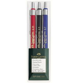Faber-Castell - TK-Fine 1306 mechanical pencil, 0.35/0.5/0.7 mm, wallet of 3