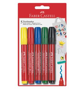 Faber-Castell - T-shirt marker, set of 5