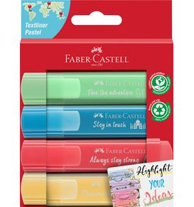 Faber-Castell - Highlighter TL 46 Pastel promo 4 carton