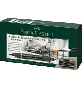 Faber-Castell - Albrecht Dürer Watercolour Marker, wallet of 5, grey tones