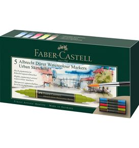 Faber-Castell - Albrecht Dürer Watercolour Marker, wallet of 5, Urban sketch