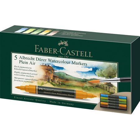 Faber-Castell - Albrecht Dürer Watercolour Marker, wallet of 5, Plein Air