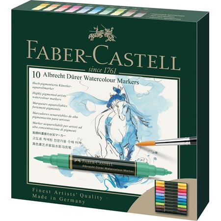 Faber-Castell - Albrecht Dürer Watercolour Marker, wallet of 10