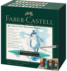 Faber-Castell - Albrecht Dürer Watercolour Marker, wallet of 30