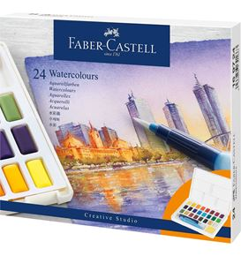 Faber-Castell - Watercolours in pans 24ct set