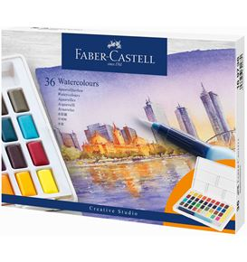 Faber-Castell - Watercolours in pans 36ct set