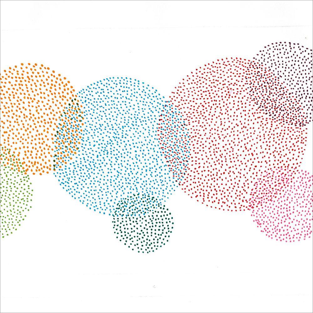pointillism visual colour mixing